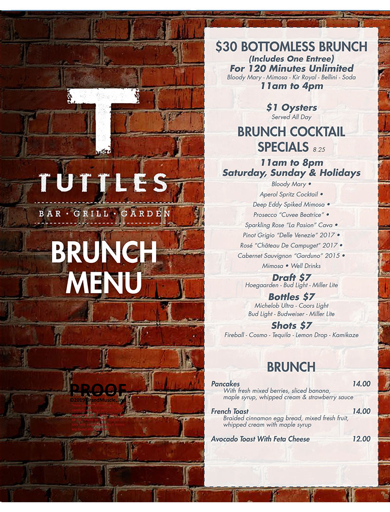 2019 Brunch Menu